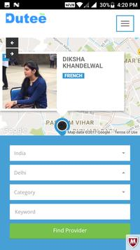 Dutee - Service & Job Finder apk screenshot