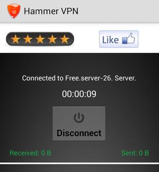 Hammer VPN screenshot 4