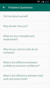 HR Interview Questions Answers 스크린샷 1