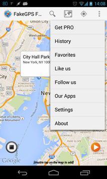Fake GPS Location Spoofer Free captura de pantalla 1