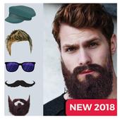 Men hair style 2018 photo editor icon