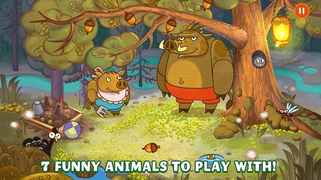 Forestry Animals - Nighty night game for Kids 3+ apk screenshot