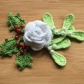 Kerst haken: corsage icon