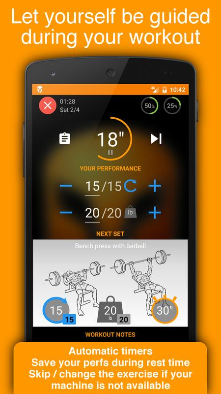 workout tracker gym trainer fitness log book for android apk