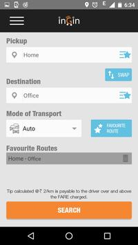 inGin–auto/taxi search engine poster