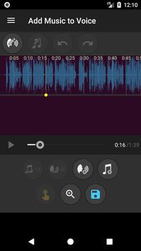 Add Music to Voice تصوير الشاشة 1