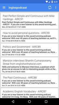 Inglés Podcast apk screenshot