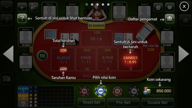 Baccarat Online for Indonesia apk screenshot