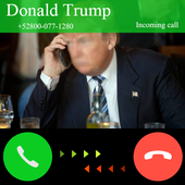 Fake Call Donald Trump icon