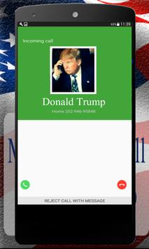Fake Call Donald Trump poster