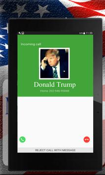 Fake Call Donald Trump apk screenshot