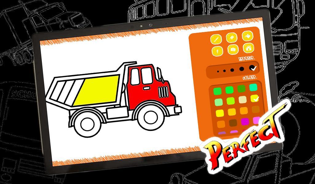 Game Mewarnai Mobil Bus Dan Truk Gratis Untuk Anak For Android Apk Download