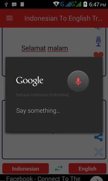 Indonesian  English Translator screenshot 2