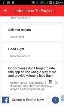 Indonesian  English Translator screenshot 4