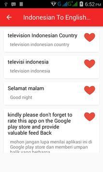 Indonesian  English Translator screenshot 5