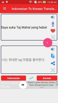 Indonesian Korean Translator poster