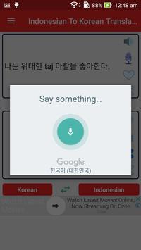Indonesian Korean Translator screenshot 2