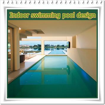 Indoor swimming pool design poster