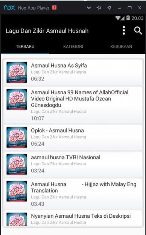 download lagu opick 99 asmaul husna