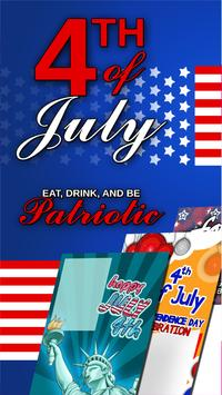 Free July 4 Greeting Cards poster