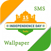 Independence Day SMS , Wallpaper & GIF 2018 icon