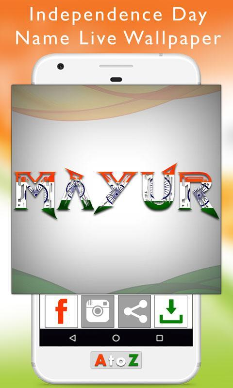 Independence Day Name Live Wallpaper For Android Apk Download
