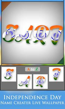 Independence Day  Name Creater Live Wallpaper screenshot 11