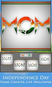 Independence Day  Name Creater Live Wallpaper screenshot 1