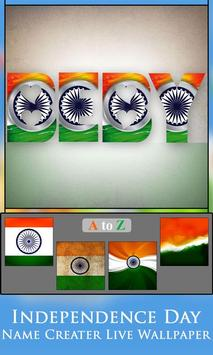 Independence Day  Name Creater Live Wallpaper screenshot 2
