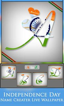 Independence Day  Name Creater Live Wallpaper screenshot 8