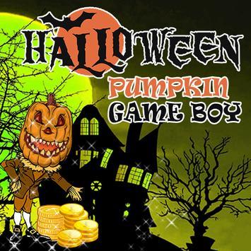 Halloween Pumpkin Game Boy poster