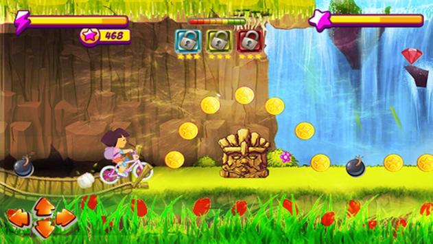 Princess Dora Biker Girl Hill Ride screenshot 1