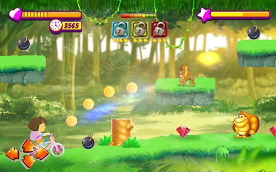 Princess Dora Biker Girl Hill Ride screenshot 4