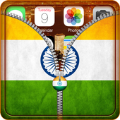 India Flag Zipper Lock icon