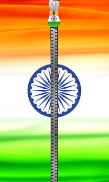 India Flag Zipper Lock poster