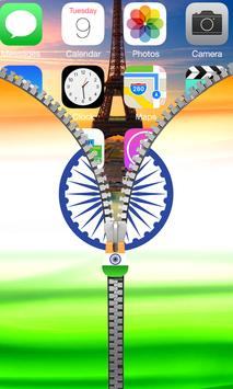 India Flag Zipper Lock apk screenshot