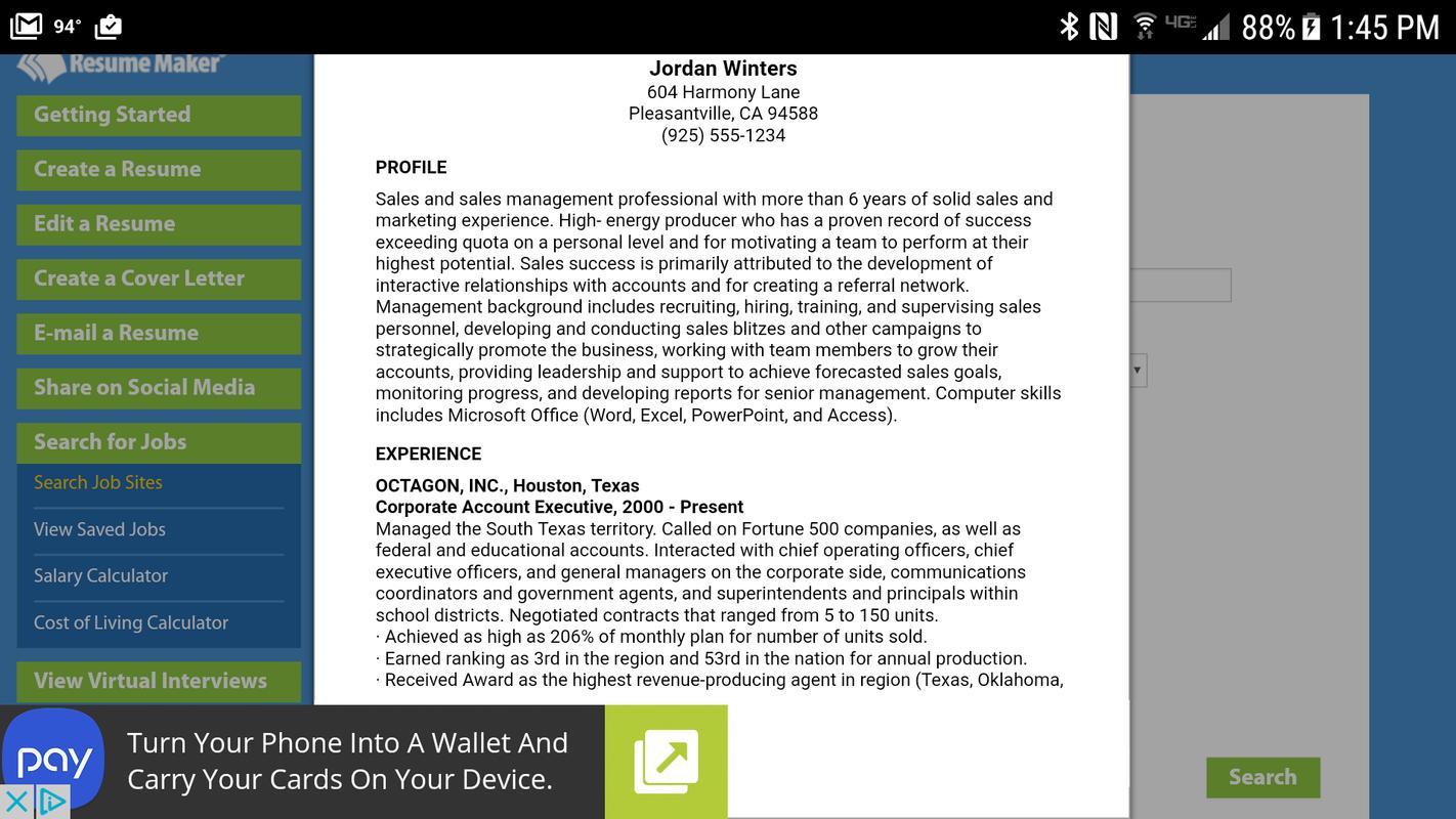 Resume Maker® FREE APK تحميل - مجاني الإنتاجية تطبيق لأندرويد ...