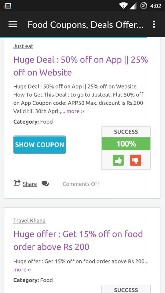 India E Coupons For Android Apk Download