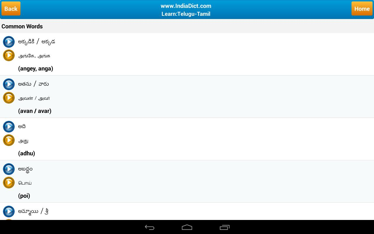 hindi to telugu dictionary app for android