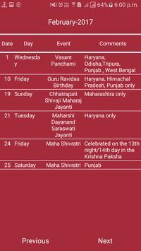 Indian Calendar screenshot 1