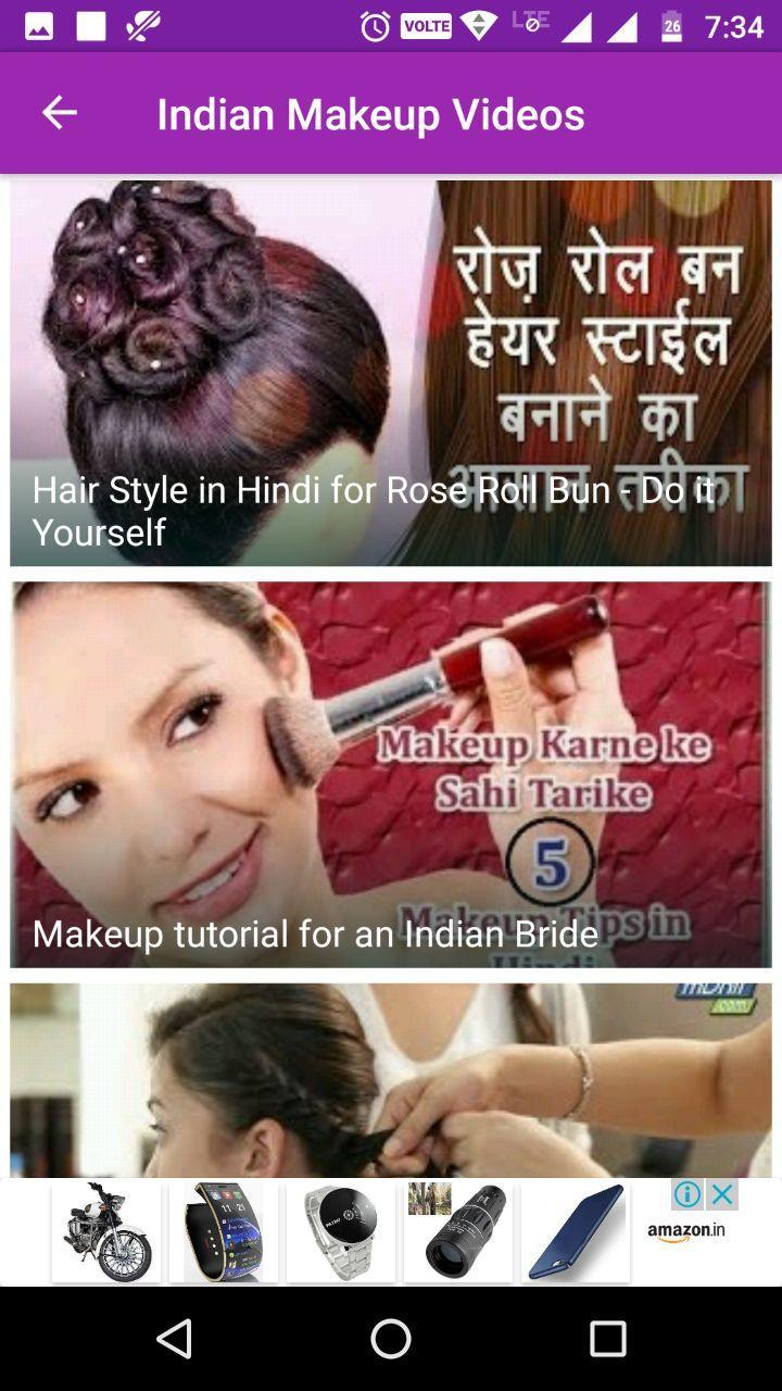 indian makeup videos for android - apk download