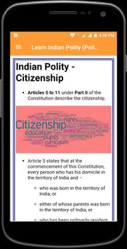 Learn Indian Polity (Politics) Complete Guide screenshot 3