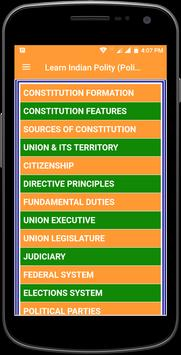 Learn Indian Polity (Politics) Complete Guide screenshot 1