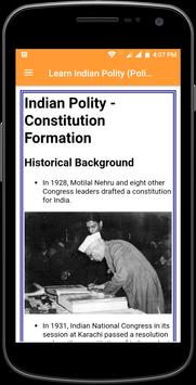 Learn Indian Polity (Politics) Complete Guide screenshot 2