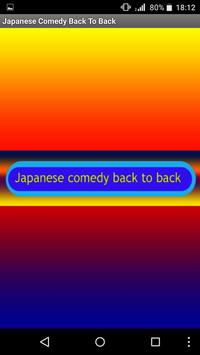 Japanese Comedy Back To Back poster