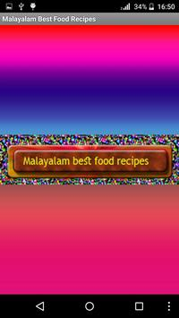 Malayalam Best Food Recipes poster