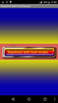 Rajasthani Best Food Recipes poster