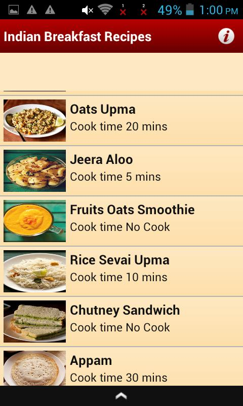 Indian breakfast recipes apk download free lifestyle app for indian breakfast recipes apk screenshot forumfinder Choice Image