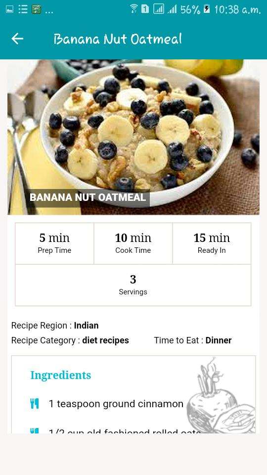 Indian Diet Food Recipes Weight Loss Fat Burning For Android