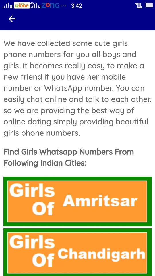 Indian Girl Mobile Number for Android - APK Download